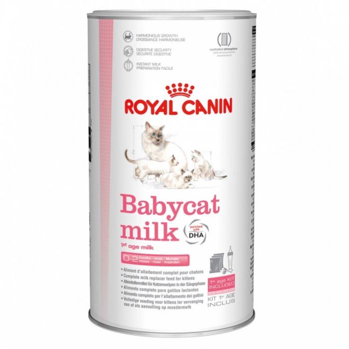 Royal Canin Babycat Milk - Lapte praf pentru pisici cu biberon si tetina - 300 g 0