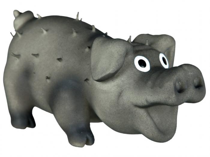 Jucarie Porc Latex cu Tepi 10 cm cu Sunet 1