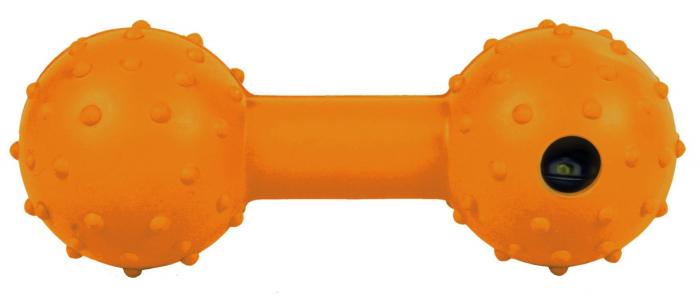 Jucarie Os cu Clopotel Cauciuc Natural 12.5 cm 0