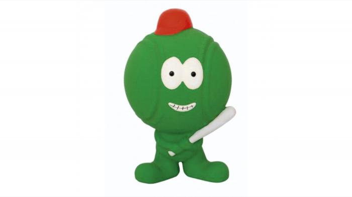 Jucarie minge baseball din latex verde, Mon Petit Ami, 12x8x7 cm 0
