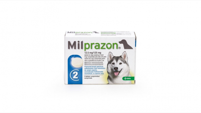 Milprazon Dog 12.5 / 125 mg (> 5 kg), 2 tablete 0