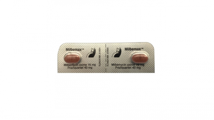 Milbemax Cat 16 / 40 mg (2 - 8 kg), 2 tablete 1