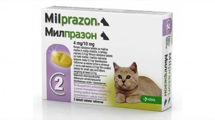 Milprazon Cat 4 / 10 mg (< 2 kg), 2 tablete [0]