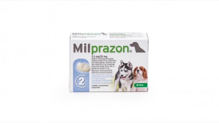 Milprazon Dog 2.5 / 25 mg (< 5 kg), 2 tablete [0]