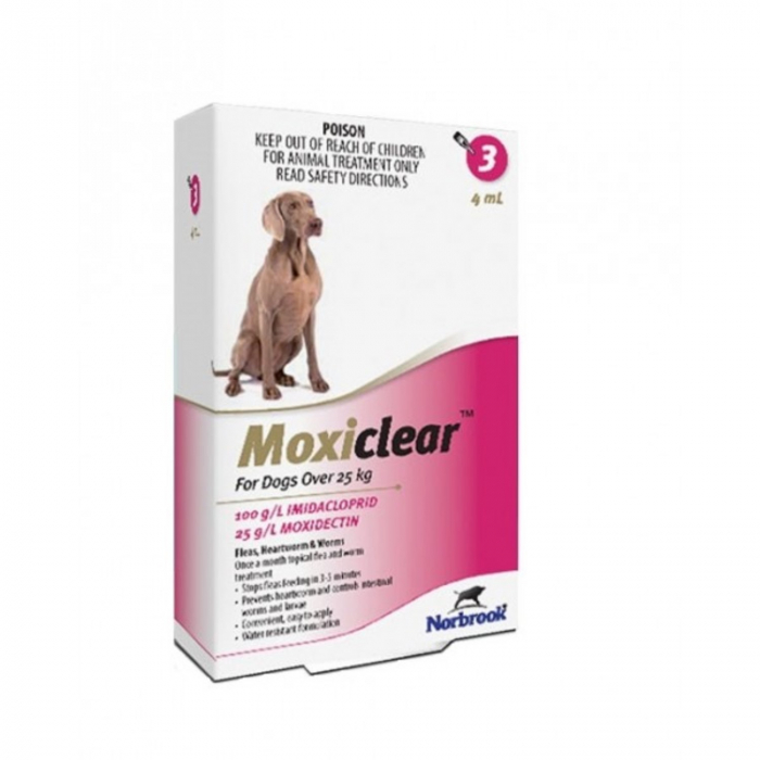 Moxiclear Caine Spot-On XL 4 ml 25-40 kg 3 pipete [0]