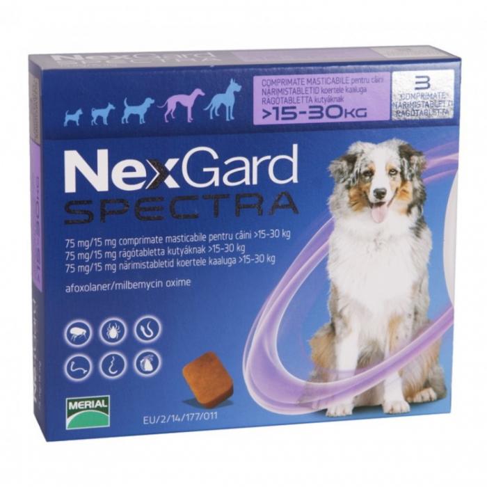 Nexgard Spectra L (15-30 kg), 3 comprimate [0]