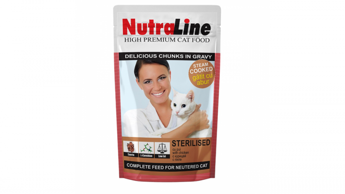 Nutraline Cat Plic Sterilised, 100 G 0