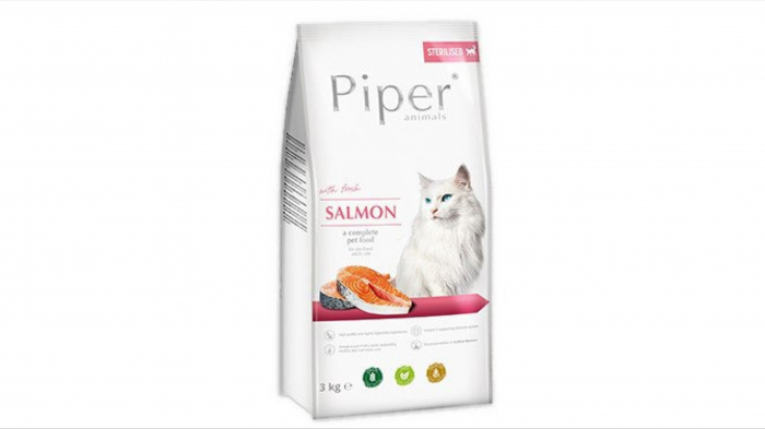 Piper Adult Cat hrana uscata sterilizate, somon, 3 kg 0