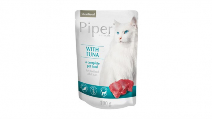 Plic hrana umeda Piper Cat Sterilised, Ton 100 g [0]
