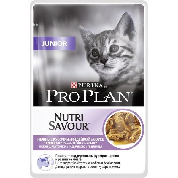 Pro Plan Junior Nutrisavour, Sos cu Curcan, 85 g 0