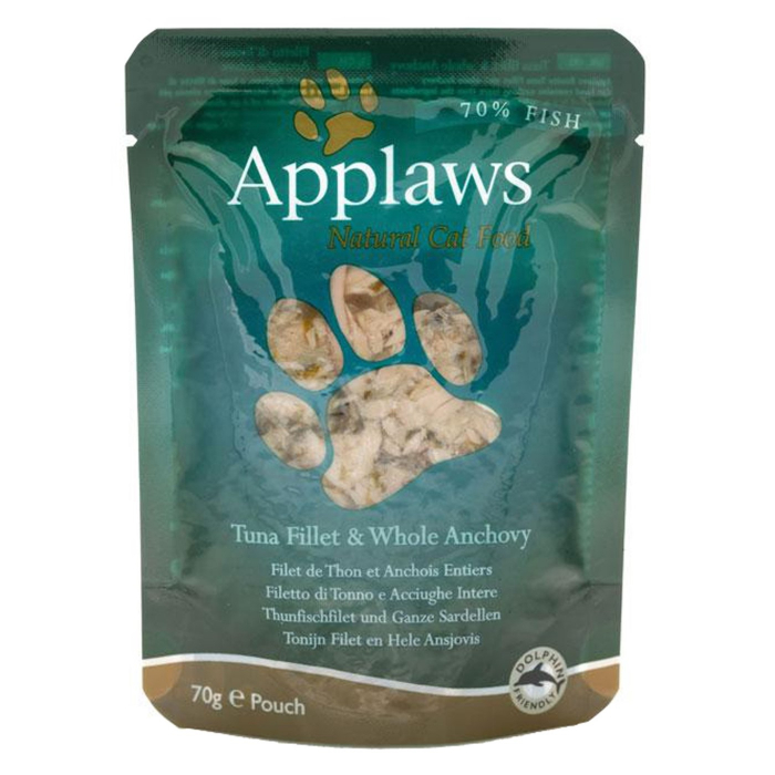 Applaws plic hrana umeda pisici File de Ton si Ansoa 12x70 g 0