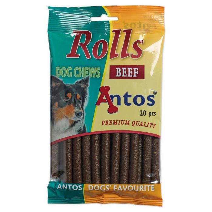 Recompense pentru caini Antos Rolls Beef 20 bucati 0