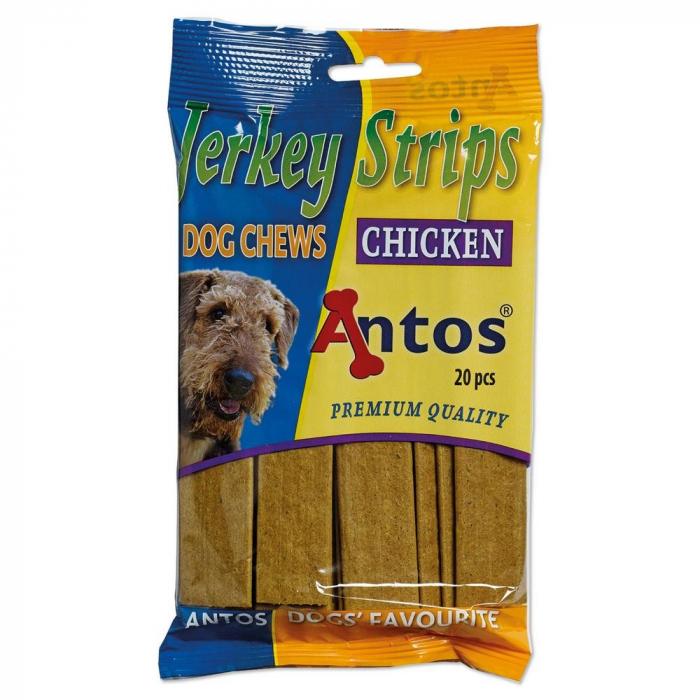 Recompense pentru caini Antos Jerkey Strips Chicken 20 bucati 0