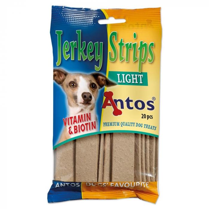 Recompense pentru caini Antos Jerkey Strips Light - 20 bucati 0