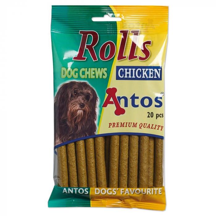 Recompense pentru caini Antos Rolls Chicken 20 bucati 0