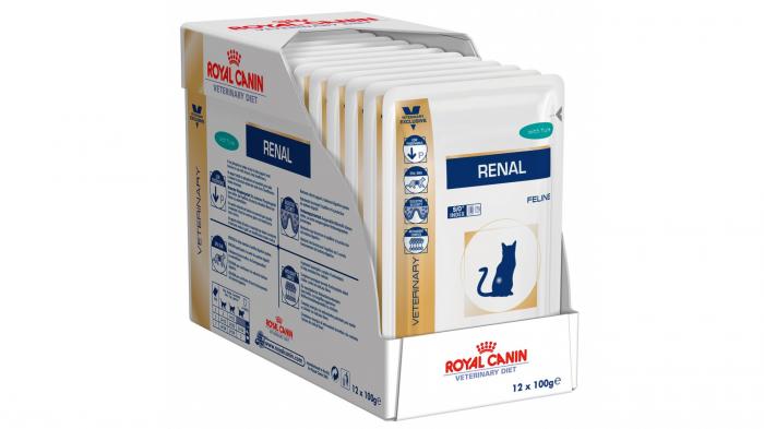 Royal Canin Felin Hrana Umeda Renal cu Ton  12x85 g 1