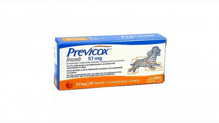 Previcox 57 mg/ 30 tablete masticabile pentru câini 0