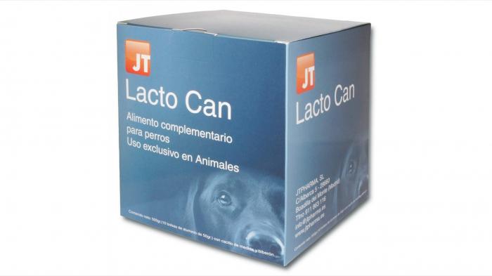 JT- LACTO CAN Lapte praf pentru caini - Biberon + Tetine incluse - 10 X 50 g [0]