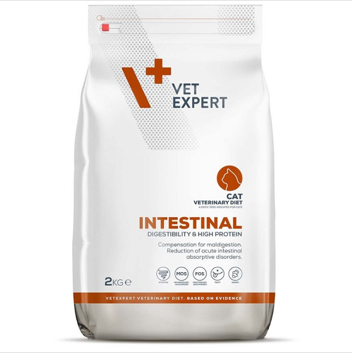 4T Veterinary Diet Intestinal Cat VetExpert, 2 kg 0