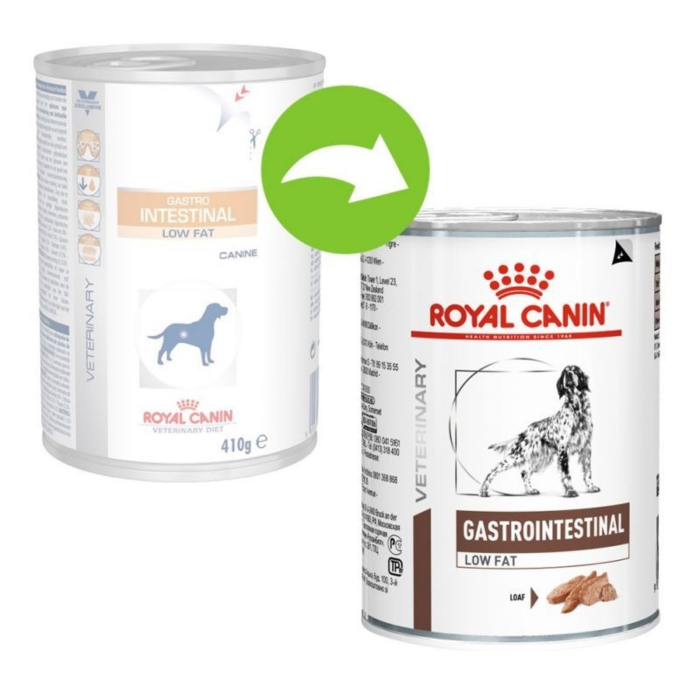 Conserva Royal Canin Gastro Intestinal Low Fat Dog 410 g 0