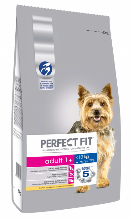 Perfect Fit Dog Adult Small cu Pui, 6 kg [0]