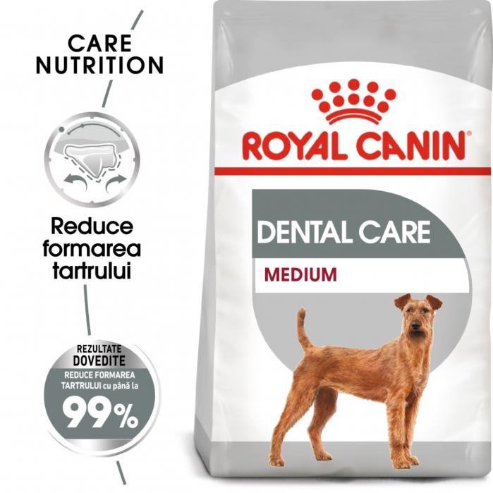 Royal Canin Medium Dental Care Adult, hrană uscată câini, pentru dinti sanatosi, 10 kg [5]