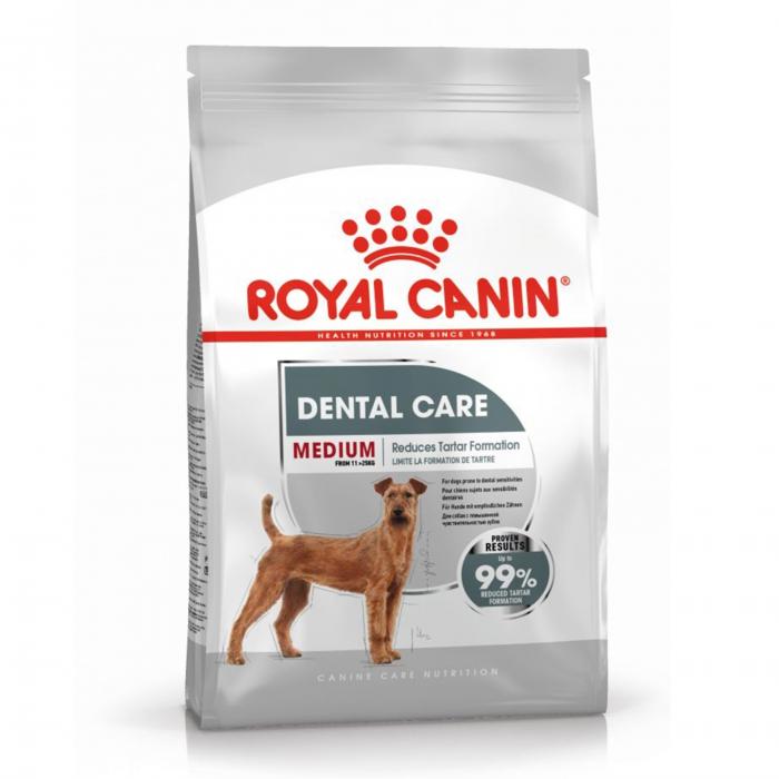 Royal Canin Medium Dental Care Adult, hrană uscată câini, pentru dinti sanatosi, 3kg [0]