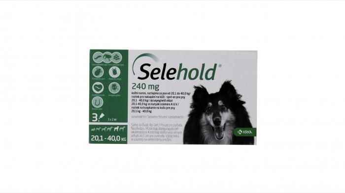 Selehold pentru caini 240 mg / ml (20.1 - 40 kg), 3 x 2 ml [0]