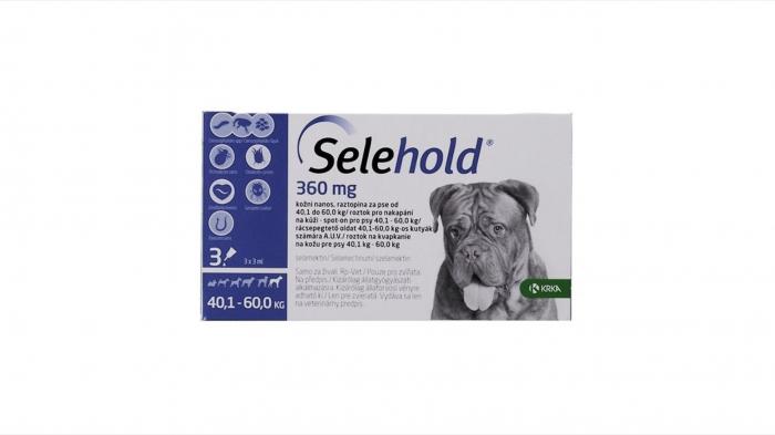 Selehold pentru caini 360 mg / ml (40.1 - 60 kg), 3 x 3 ml 0