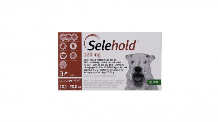 Selehold pentru caini 120 mg / ml (10.1 - 20 kg), 3 x 1 ml 0