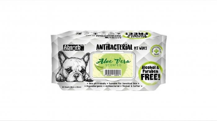 Servetele umede Absorbant Plus Antibacterian Pet Wipes Aloe Vera, 80 bucati [0]
