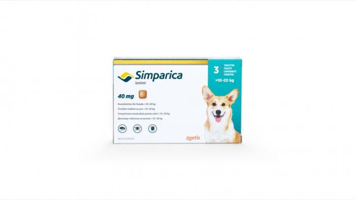 Simparica Caine 40 mg (10 - 20 kg), 3 comprimate 0