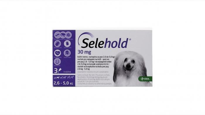Selehold pentru caini 30 mg / ml (2.6 - 5 kg), 3 x 0.25 ml [0]