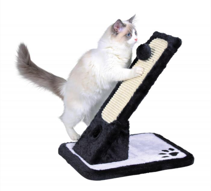Sisal tocit gheare pisici, Negru cu Alb 30x42x40 cm [0]