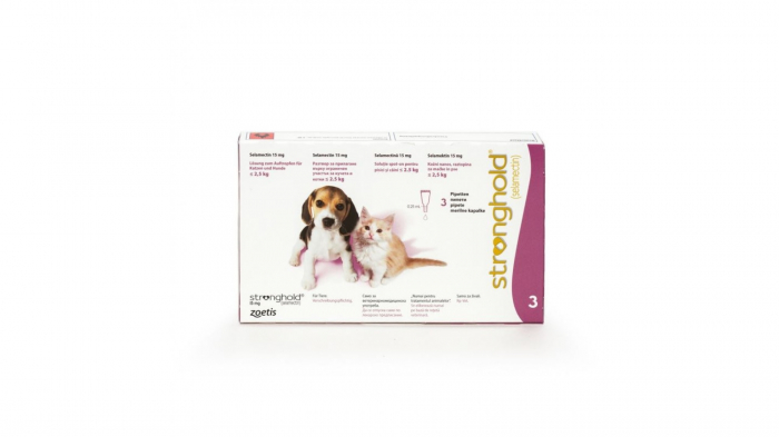 Stronghold Caine/Pisica 15mg (<2,5 kg) 1 pipeta 0