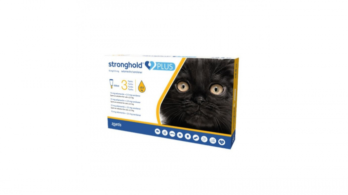 Stronghold Plus Pisica 15 mg, < 2.5 kg, 0.25ml, 1 pipeta 0