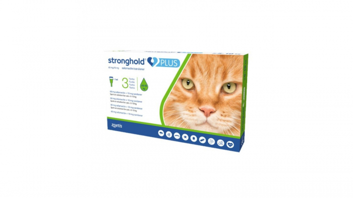 Stronghold Plus Pisica 60 mg, 10 ml (5 - 10 kg), 3 pipete 0