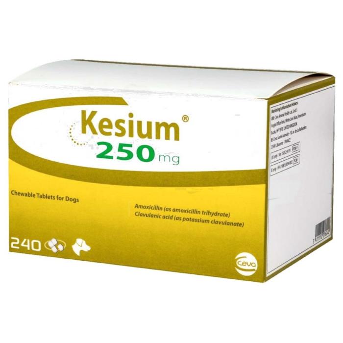 KESIUM 250 MG (Amoxy + Acid Clavulanic) - 8 Tablete masticabile 0