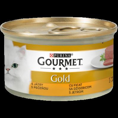 GOURMET GOLD MOUSSE CU FICAT, Hrana Umeda Pisici, 85g [0]