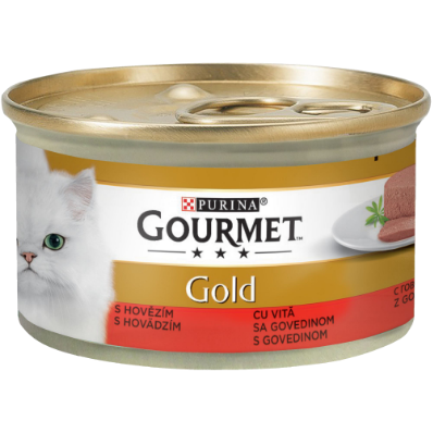GOURMET GOLD MOUSSE CU VITĂ, Hrana Umeda Pisici, 85g [0]