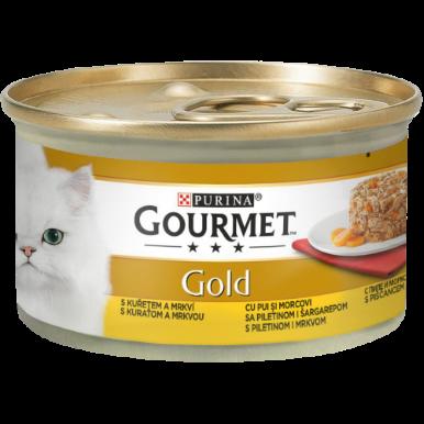 GOURMET GOLD SAVOURY CAKE CU PUI ȘI MORCOVI, 85g [0]