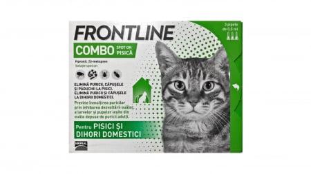 Frontline Combo Pisica, 1 pipeta Antiparazitare0