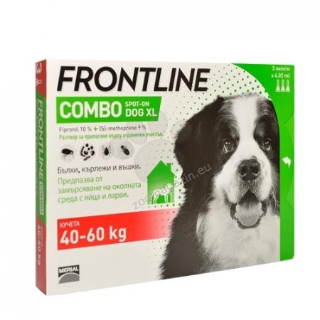 Frontline Combo XL (40-60 kg) - 3 Pipete Antiparazitare0