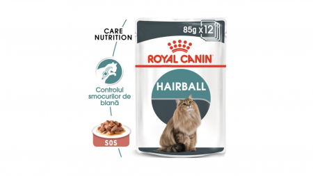 Royal Canin Hairball Care Gravy, 12 plicuri x 85 g0