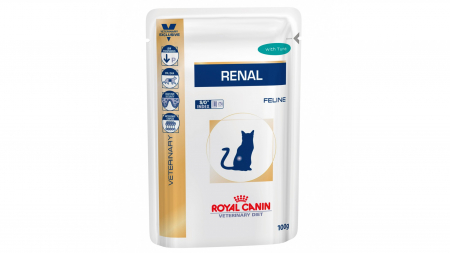 Royal Canin Felin Hrana Umeda Renal cu Ton  12x85 g0