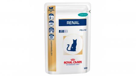 Royal Canin Felin Hrana Umeda Renal cu Ton  85 g0