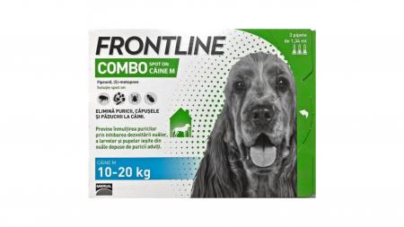 Frontline Combo M (10-20 kg) - 3 Pipete antiparazitare0