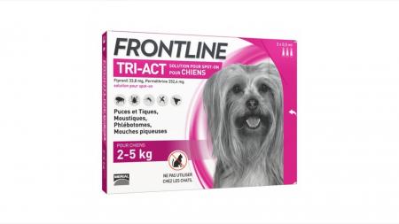 Frontline Tri-act XS spot on pentru caini 2-5 kg - 1 pipeta antiparazitara [1]