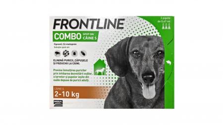 Frontline Combo S (2 -10 kg) - 3 Pipete Antiparazitare0