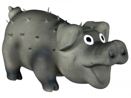 Jucarie Porc Latex cu Tepi 10 cm cu Sunet1